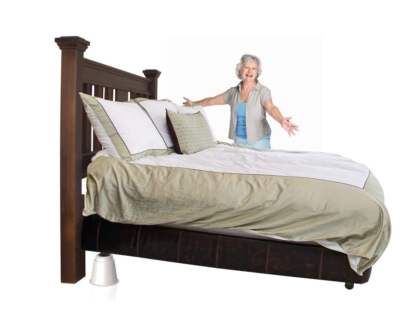 CB656 Medical Bed Risers | Riser | Raisers | Slipstick Foot